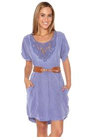 Loose Fit Summer Dress W/Lace Detail