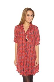 Tunic Dress W/Feather Accessory